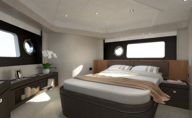 Absolute 58 Fly Bow cabin