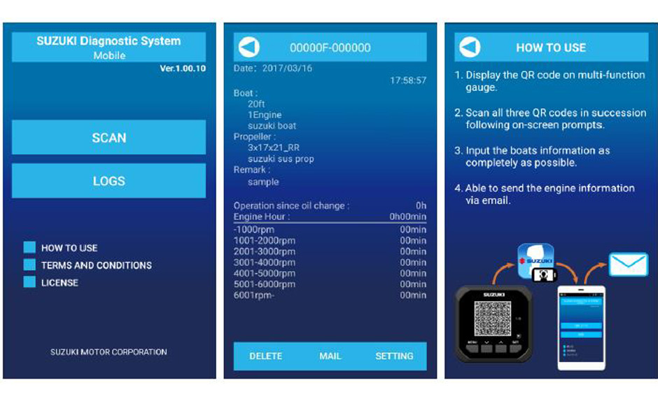 Suzuki Diagnostic System Mobile: it's all in an app - Boatmag