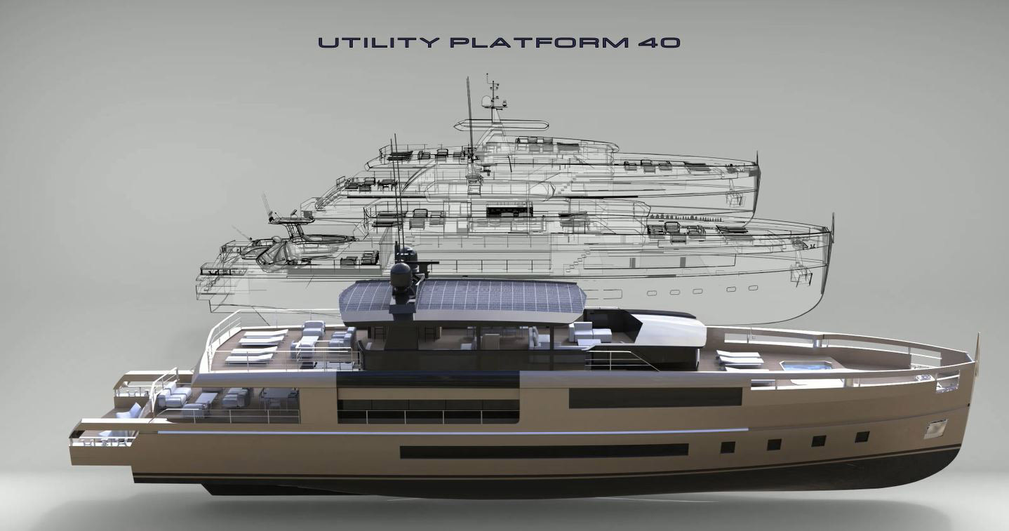 The First Model From Antonini Navi Will Be A 40m Crossover Called Up40