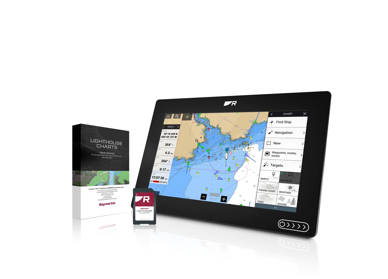 raymarine lighthouse chartplotter maps
