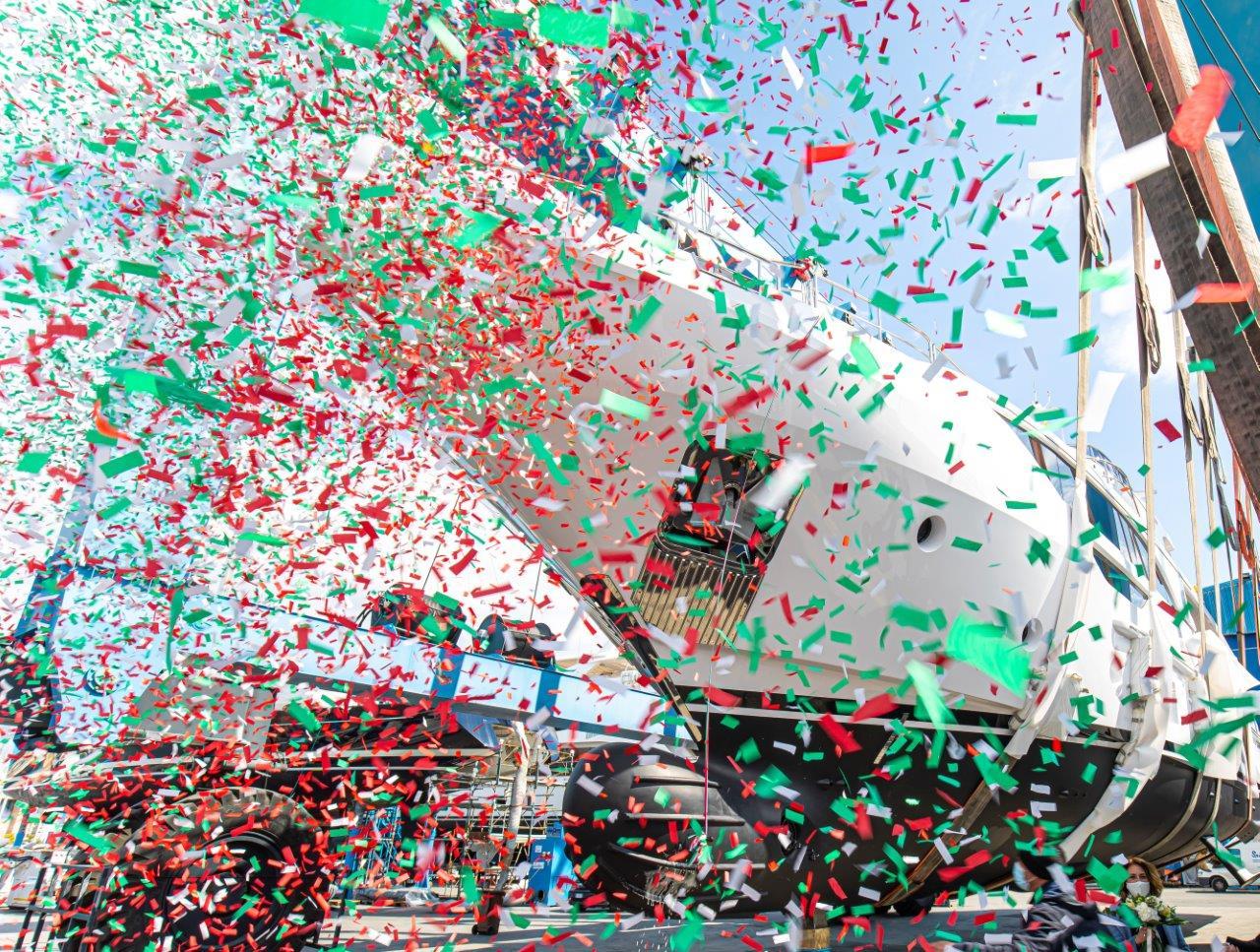 Benetti Delfino 95 BD111 65 zazou launch